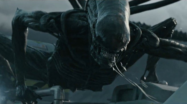 Alien Covenant Neomorph Birth Scene