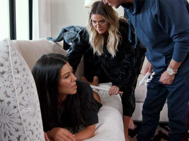 Watching Khloe Kardashian Massage Kourtney's Bare Butt Is Too Weird to Handle