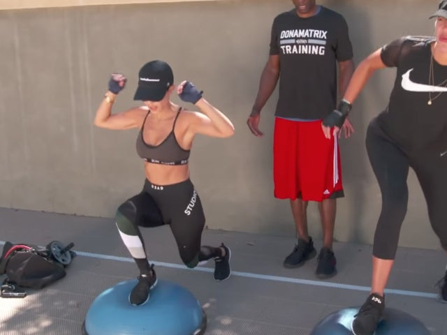 Khloe and Kourtney Kardashian Fail at Working out While 'Totally Drunk' in New 'KUWTK' Clip