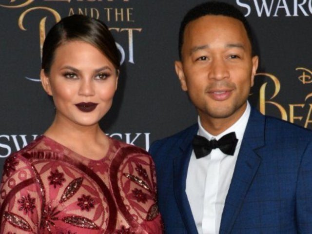 Chrissy Teigen Shows off Baby Bump in Matching Onesies with John Legend and Family
