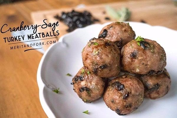 Cranberry-Sage-Turkey-Meatballs