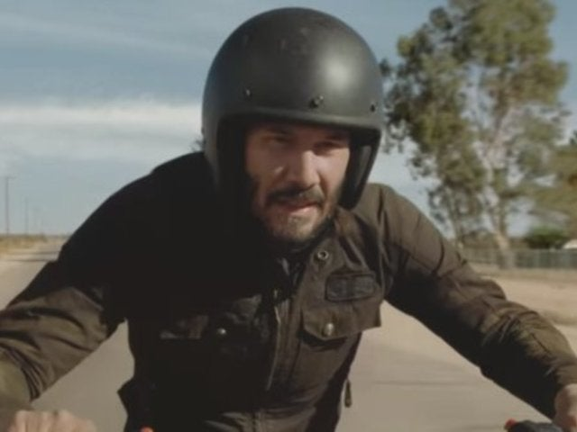 Watch Keanu Reeves' Death-Defying Motorcycle Stunt in New Super Bowl Commercial