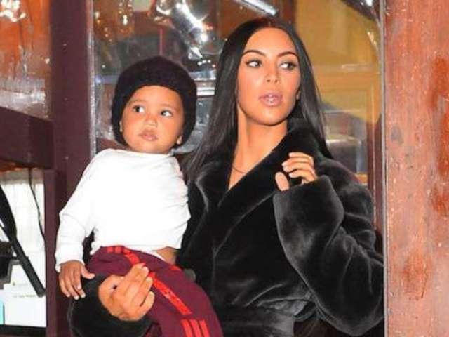Kim Kardashian's Big Brag on Son Saint Spells Trouble on Twitter