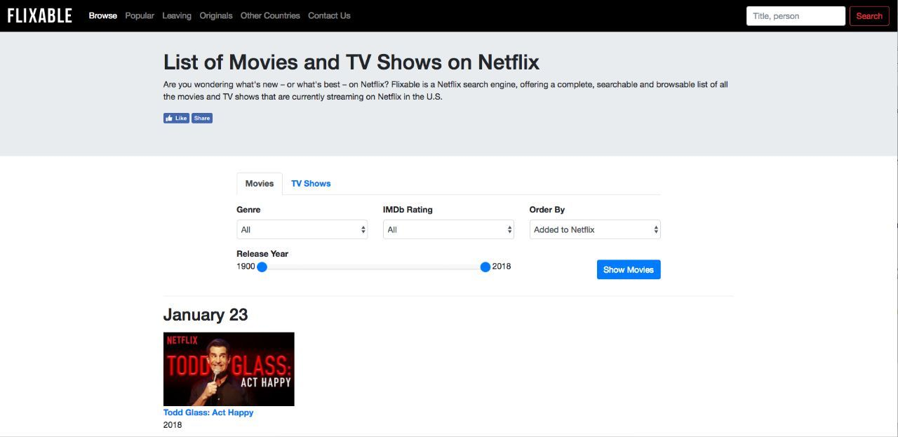 netflix-browsing-flixable-home-page