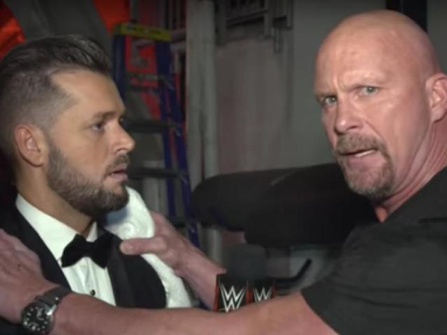 'Stone Cold' Steve Austin Berates Interviewer at RAW 25 in Classic Fashion