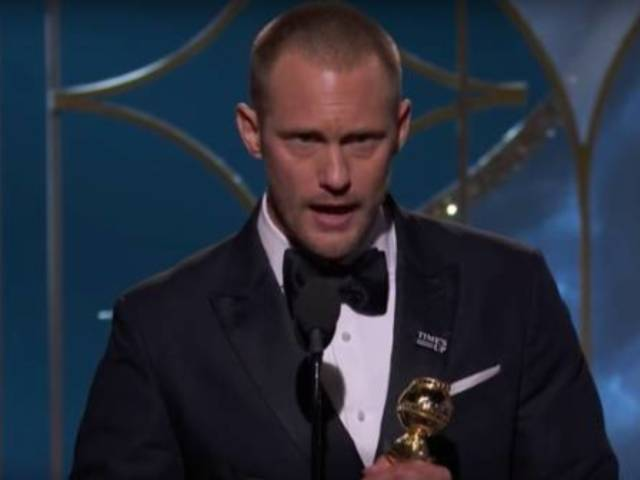 Alexander Skarsgard's Speech Sparks Backlash After Golden Globes Win