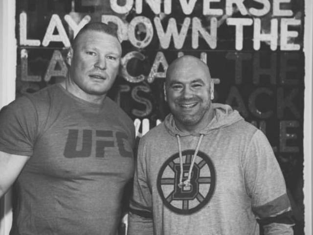 Dana White and Brock Lesnar Fuel UFC Megafight Rumors