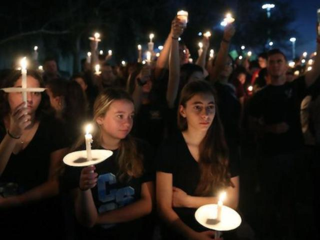 Florida Community Holds Candlelight Vigil for School Shooting Victims
