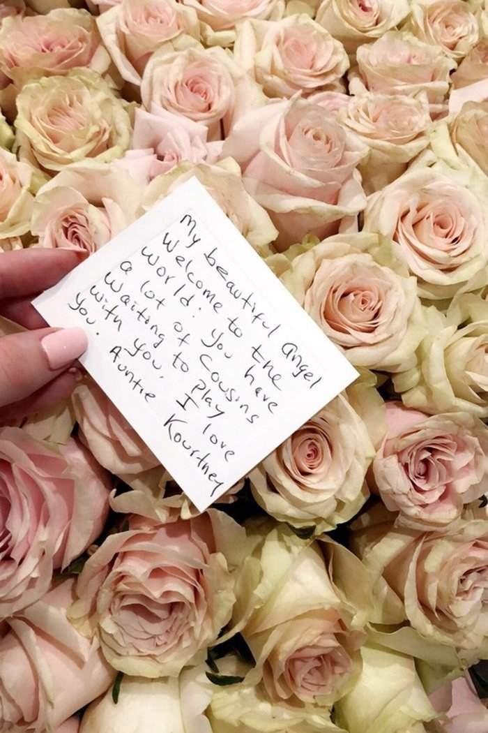 kylie-jenner-kourtney-kardashian-stormi-flowers