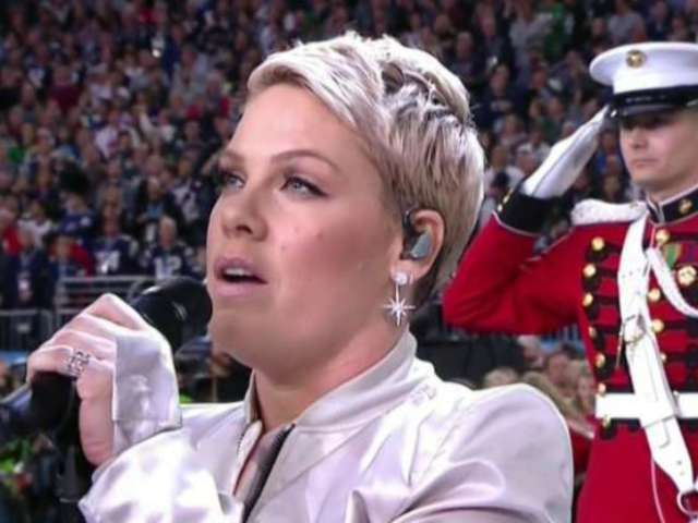 Watch Pink Sing the National Anthem at Super Bowl LII
