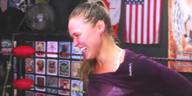 Ronda Rousey Training video WWE