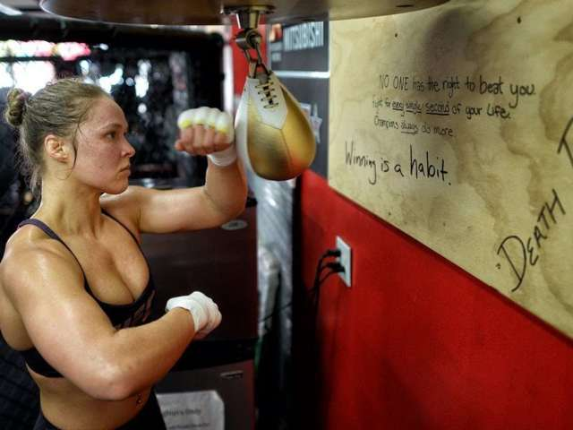 Watch: New Footage of Ronda Rousey Training for WWE Debut