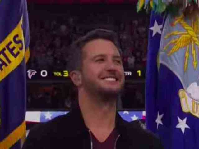 Remember When Luke Bryan Sang the National Anthem at the Super Bowl?