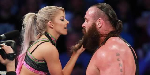 Alexa Bliss Braun Strowman Kiss Love WWE