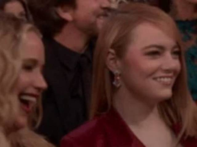 Jennifer Lawrence Caught Trolling Emma Stone in Midst of Oscars Joke