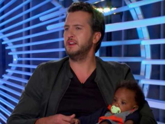 See Luke Bryan Hold a Contestant's Baby During 'American Idol' Auditions
