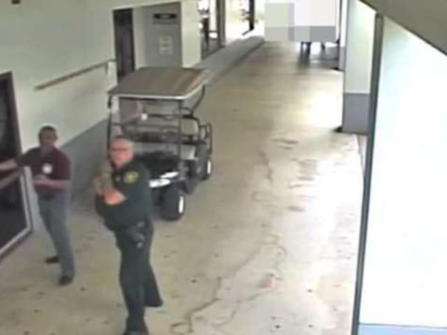 Parkland Surveillance Video Shows Officer Standing Outside During School Shooting