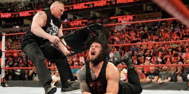 Raw review wrestlemania reigns lesnar