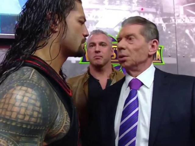 Vince McMahon Serves Roman Reigns with Temporary Suspension on RAW