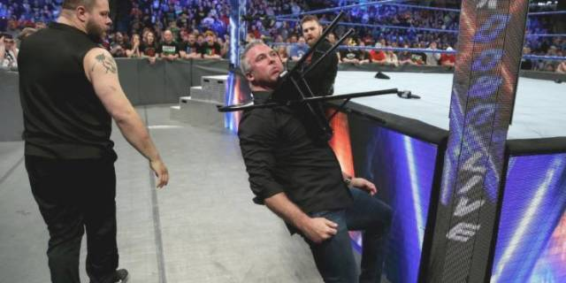 Shane McMahon injury Smackdown WWe