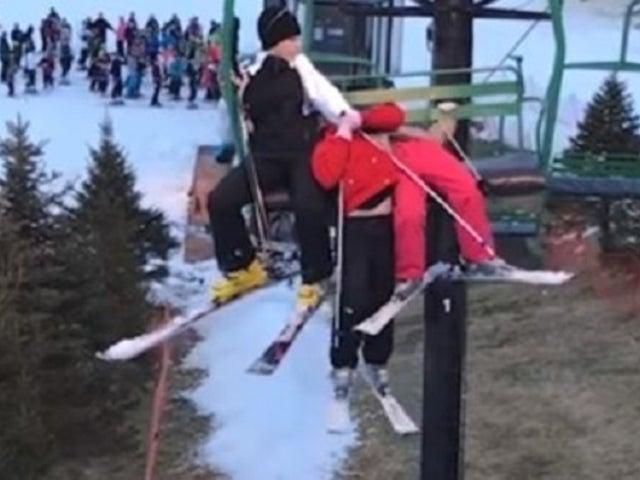 Skier Captures Terrifying Moment Little Girl Dangles, Falls From Lift