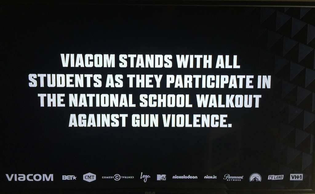 Viacom Networks Are Going Dark to Support National School Walkout