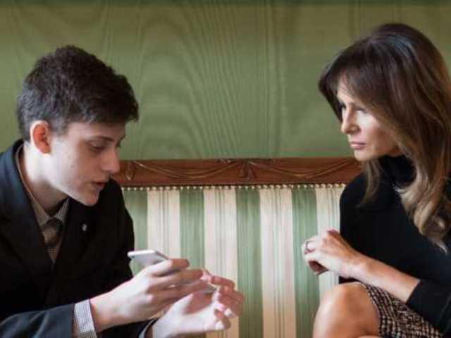 Melania Trump Speaks With Florida School Shooting Survivor in New Photo
