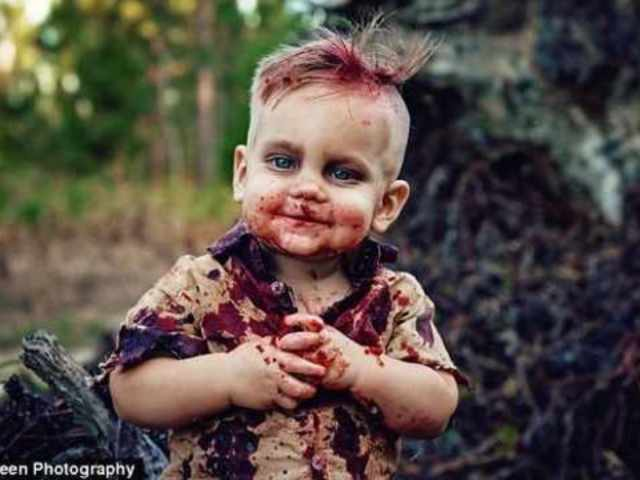 Mom Faces Backlash Over Zombie Smash Cake for Son Who Nearly Died at Birth