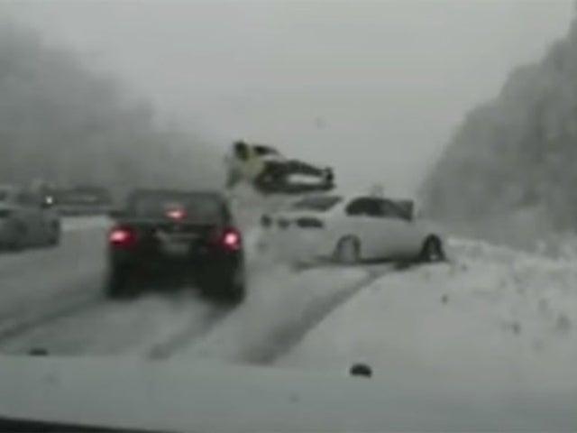 Utah Trooper Survives Being Hit by Car on Snowy Roadside