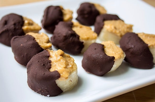 Chocolate Covered Peanut Butter Banana Bites 650