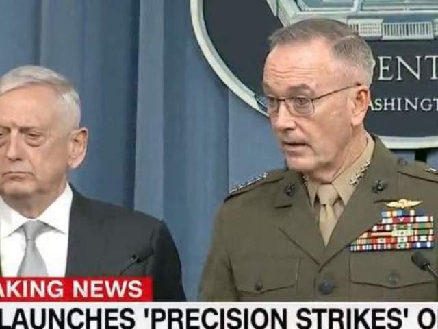 Secretary James Mattis, General Joseph Dunford Explain US Military Strike on Damascus
