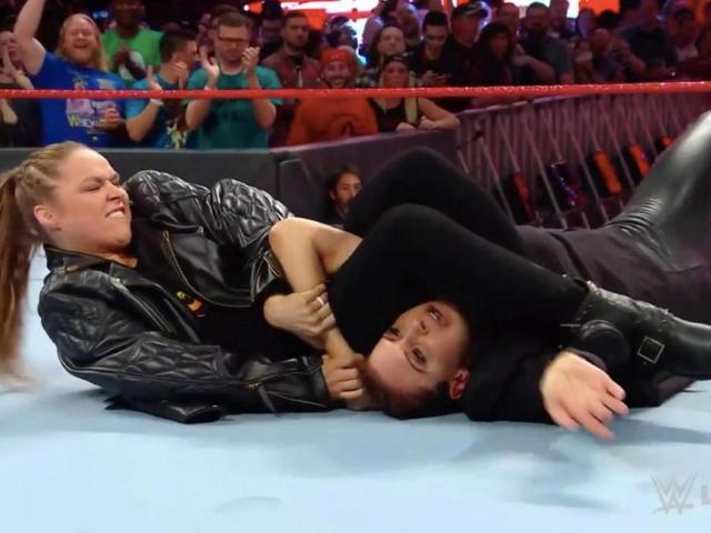 Ronda Rousey Mangles Stephanie McMahon to Open RAW