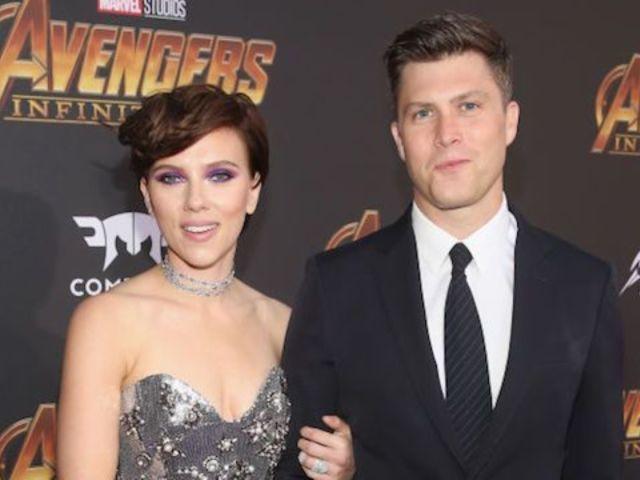Scarlett Johansson and 'SNL' Funny Guy Colin Jost Make Red Carpet Debut