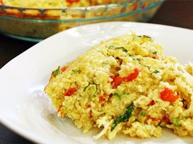 Recipe: Skinny Crustless Chicken Quiche