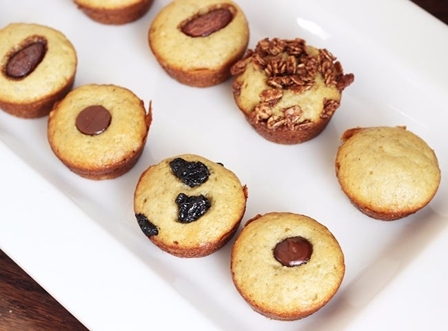 Skinny Mini Banana Bread Muffins 650