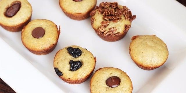 Skinny Mini Banana Bread Muffins 960