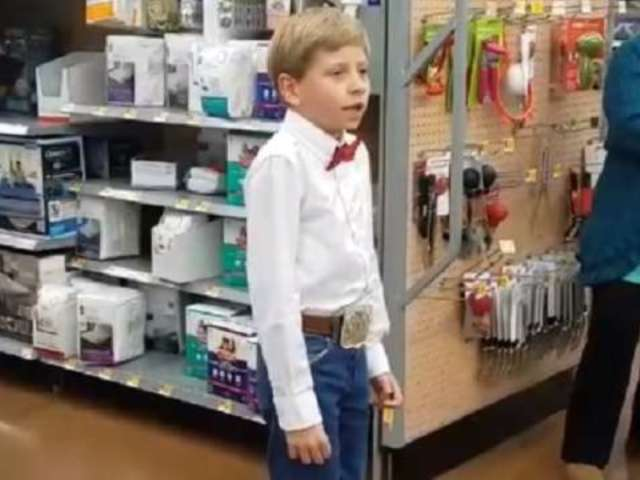 Social Media Reacts to Viral Video of Boy Singing in Walmart