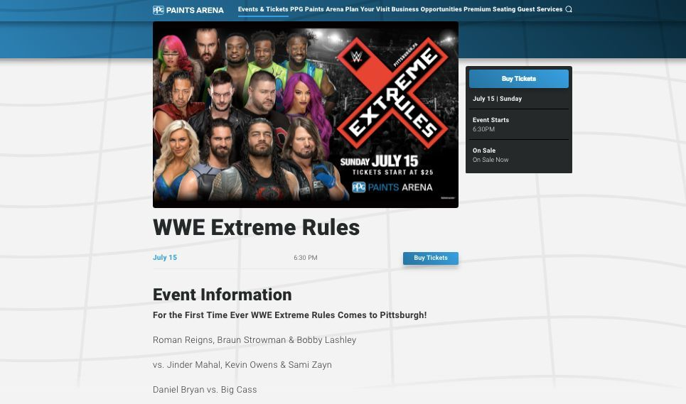 Extreme rules wwe spoiler leak
