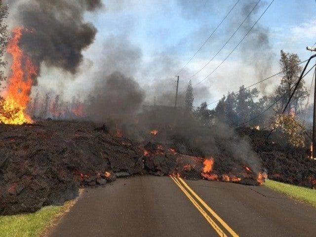 Lava Shoots Through Hawaii Neighborhood After Volcano Eruption