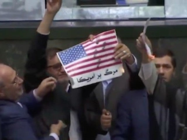 Iran Lawmakers Set American Flag on Fire, Chant 'Death to America'