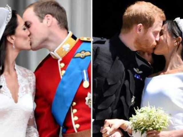 How Meghan Markle's Wedding Dress Look Compares to Diana, Kate and Elizabeth