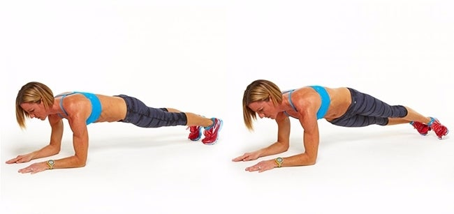 Plank with hip drop