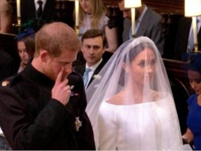 Royal Wedding: See Prince Harry Wipe Away Tears as He Marries Meghan Markle