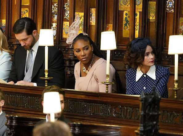Serena Williams and Abigail Spencer at Royal Wedding Getty