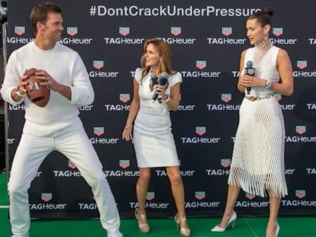 Tom Brady and Bella Hadid Toss Football at Monaco Grand Prix