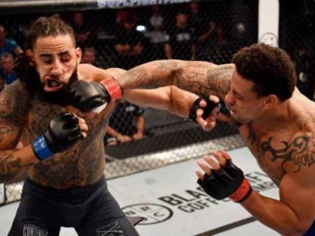 Watch: Greg Hardy Wins First UFC Fight With Mega KO Punch