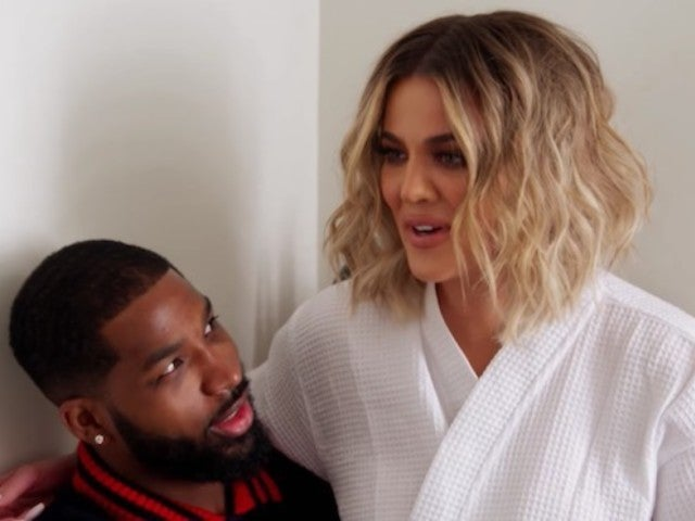 Khloe Kardashian Hits the Gym With Tristan Thompson After LA Return