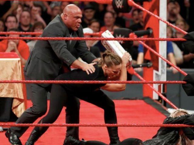 Did Kurt Angle Just Threaten Ronda Rousey?