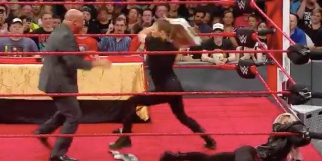 Ronda Rousey wwe suspended raw rampage