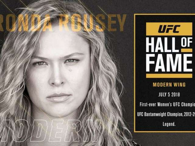 Ronda Rousey to Be Inducted Into UFC Hall of Fame Next Month